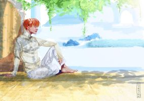 J-hope resting by Lynxina