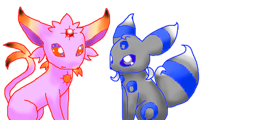 Solar and Lunar(redraw) by Que890theEevee