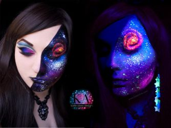 Black Light Galaxy - with Tutorial by KatieAlves