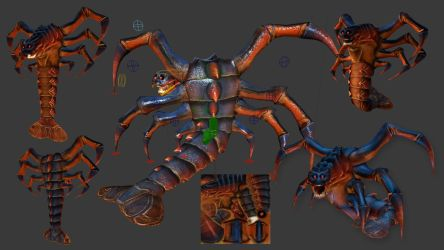 Death Claw Model Textured and Rigged by ToTac