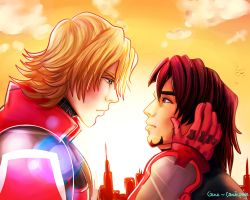Tiger and bunny by CosmicPonye