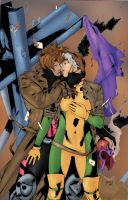 Gambit and Rogue by Amaryth