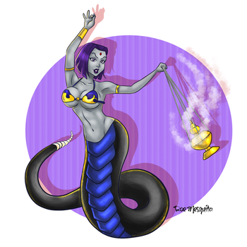 Raven as Naga by AndronicusVII
