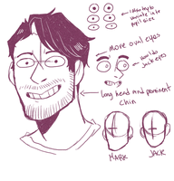 How I draw Marks head(?) by Kayroos