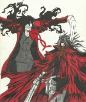 Alucard and Vincent by oZUNDERo
