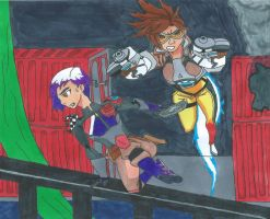 50th BATTLE! Tracer Vs Sabine Wren by Bluexorcist93