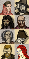 Lublin Legends - AR game - faces by Stachir
