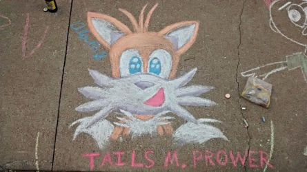 Tails the Chalk Fox by tails4evr
