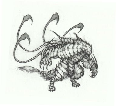Armored creature by krigg