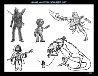 Game avatar concept art by bgr