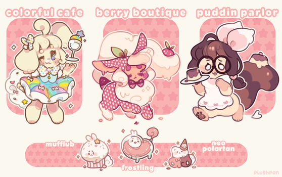 [CLOSED] Adopt Series 1 - Sweets Shop Set by plushpon