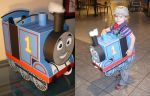 Best Thomas The Tank Engine Halloween costume ever by artbylukeski