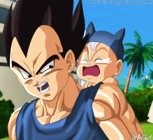 The best dad in the world [Vegeta and Trunk] by ItacsuM