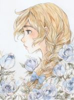 Blue Rose by LonelyFullMoon