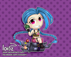 League of Legends Chibi - Jinx by Ioioz