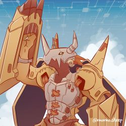 Tamer and Wargreymon - commissions open by themomosheep