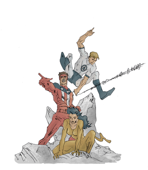 Original Avengers (colored) by electronicdave