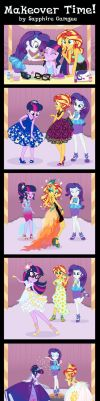Commission: Makeover Time! by SapphireGamgee