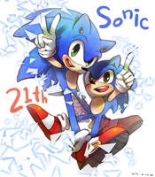 Happy 21th Sonic by Hanybe