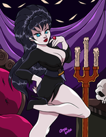 ELVIRA Mistress of the Dark by AnyaUribe