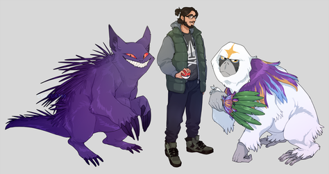 comm - gengar and oranguru by corycatte