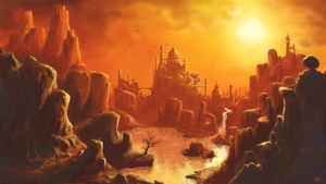 Sunset over Red Rock City by Spookydier