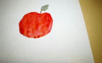 apple painting by crazycool124