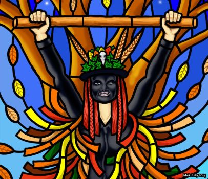 Wytchwood Morris - Stained Glass design (detail) by yggdryad