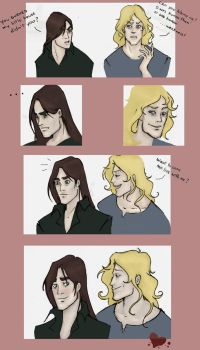Louis and Lestat colored by Voodoo-kiss