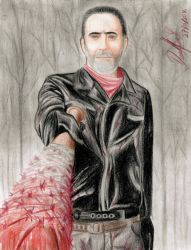 Negan ( The Walking Dead ) by danielcamilo
