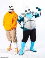 [Cosplay] Underswap Papyrus and Sans ::2016:: by NobleTanu