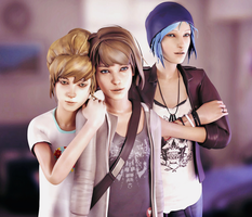 Life Is Strange - Max , Kate and Chloe by ICYCROFT