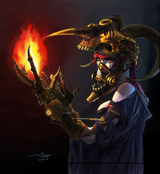 Steampunk Witch by oxoxoxo