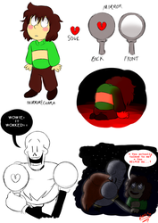 Mirror Child AU: Mirror!Chara by LotusTheKat