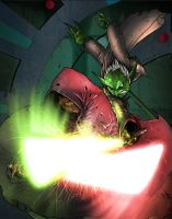 Force Masters Yoda vs Sidious by commanderlewis