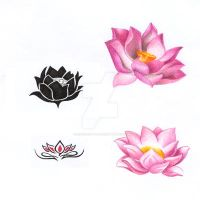 Lotus Tattoo by GisaPizzatto