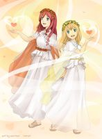 Commission: As Harmonia Sisters ~ Mariel and Morie by kariavalon