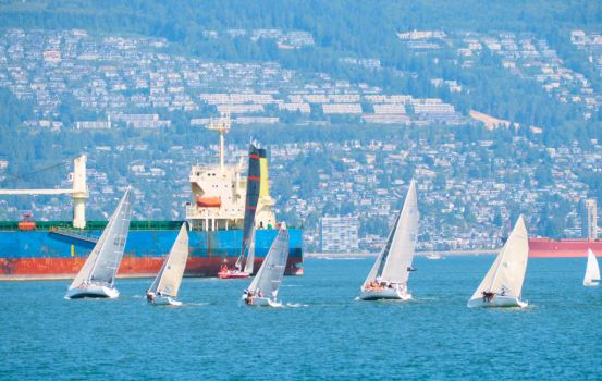 West Vancouver Sail Scene by WestSideofMidnight