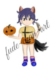 Request: Jeff carving a pumpkin  by fude-chan-art