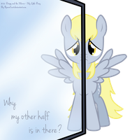 Derpy and the Mirror by RavenEvert