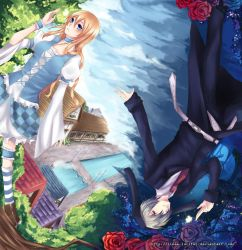 :: Alice and Rabbit :: by Linea-Lucifer
