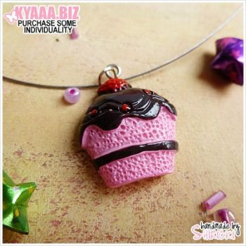 Necklace - Strawberry Cupcake by shiricki