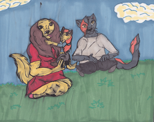 Family of Smiles by Anthrokid