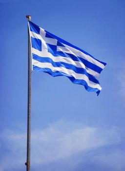 greek flag by ftourini-stock