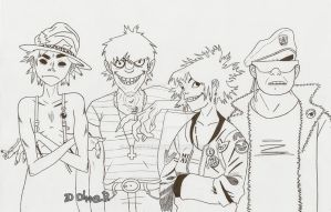 The Gang [lineart] by 2D-Dipper