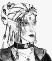 Portrait of an elf by rahah
