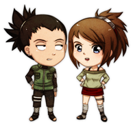 Commisssion Shikamaru and Chiaku by lightshelter