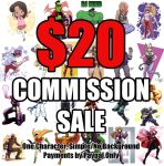 20 USD Commission Sale 5 SLOTS OPEN by OptimusPraino