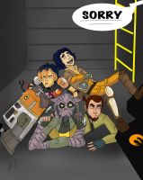 Star Wars Rebels: Escaping TIE-Fighters by AvengerBlackwidow