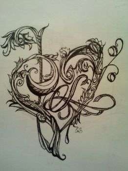 Embellished Music Heart Tattoo by Magdelene-du-Couray